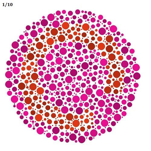 kontrasztos látás teszt